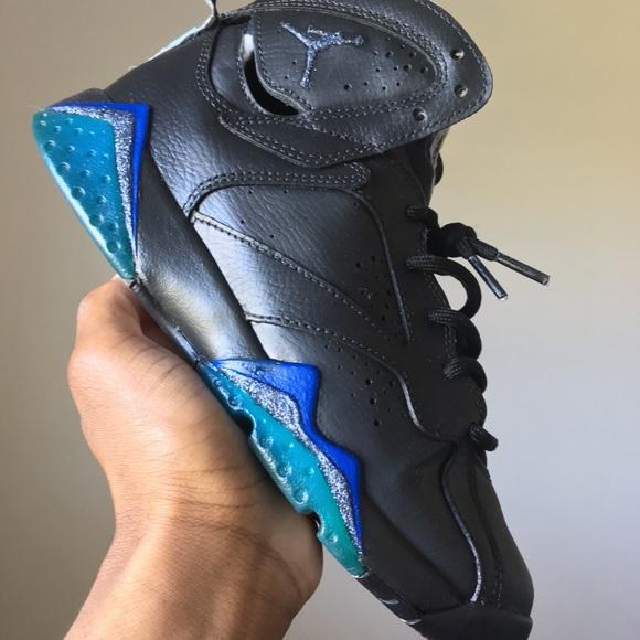 Jordan Other - Custom glitter jordan 7s